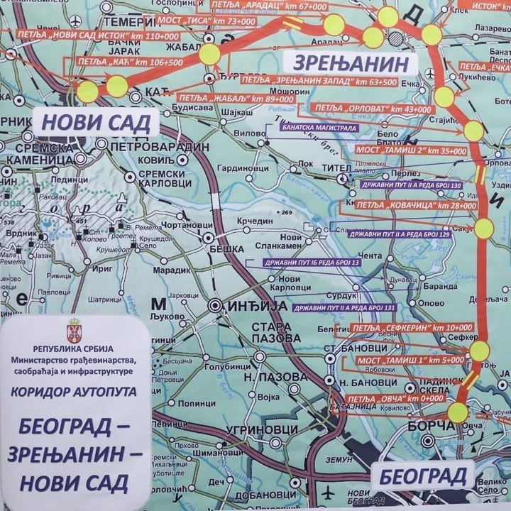 Beograd Zrenjanin Novi Sad Novi Auto Put Prolazice I Kroz